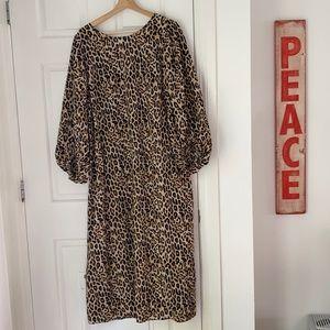 Women's dress, Leopard print maxi H&M large